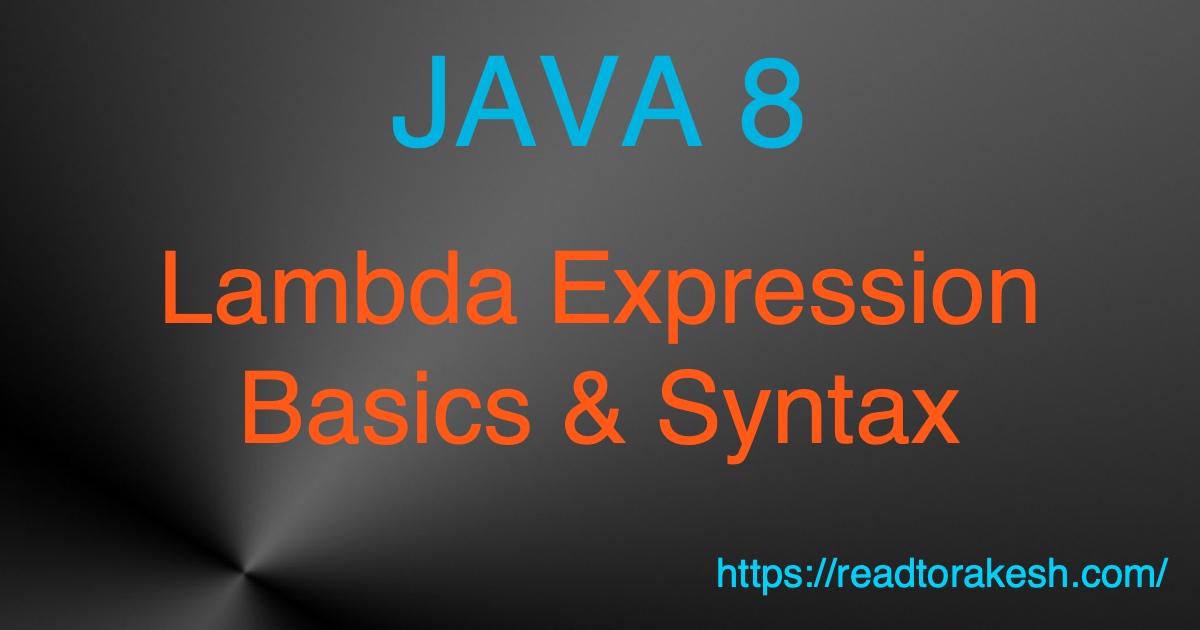 java 8 lambda expression example